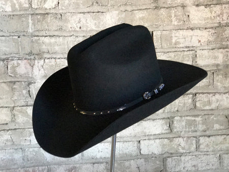 """Lonesome Gus"" Black Premium 100% Wool Crushable Felt Hat"