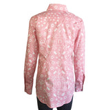 Women's Bison Bandana Print Pink Western Dress Shirt