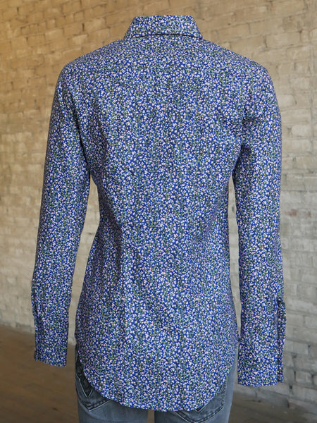 Women's Midnight Blue Floral Print Western Shirt - Rockmount