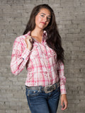 Women's Plaid with Eyelet Embroidery Cotton Western Shirt - Rockmount
