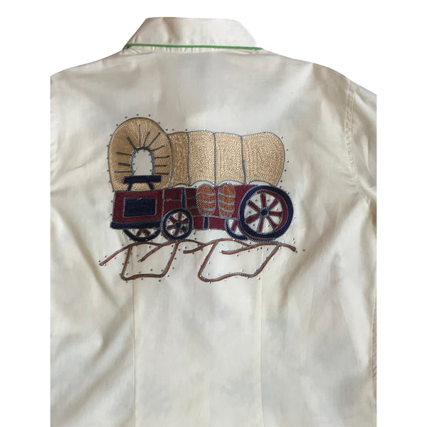 Women's Porter Wagoner Ivory Embroidered Western Shirt