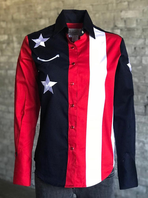 Women's Flag Cotton Gabardine Western Shirt