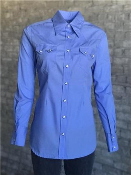 Women's White Sawtooth Pocket Western Shirt