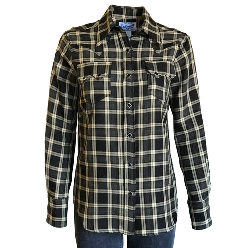Women's Brown & Tan Plaid Western Shirt