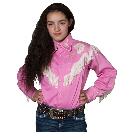 Kid's Black Suede Leather Western Vest