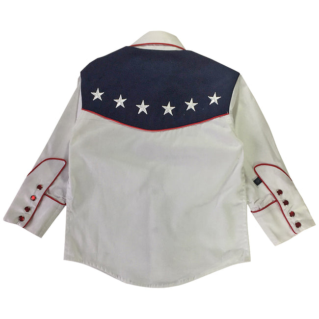 Kid's Vintage USA Flag Western Shirt