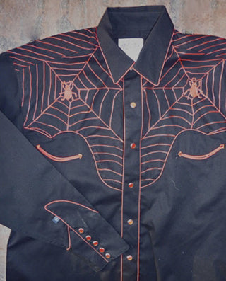 Kid's Embroidered Spider Web Western Shirt - Rockmount