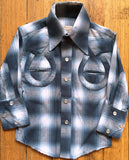 Kid's Blue Horseshoe Western Shirt - Rockmount