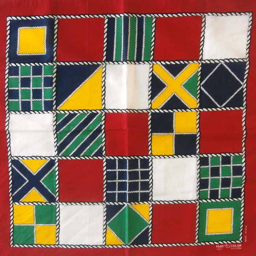 Nautical Maritime Signal Flags Cotton Bandana