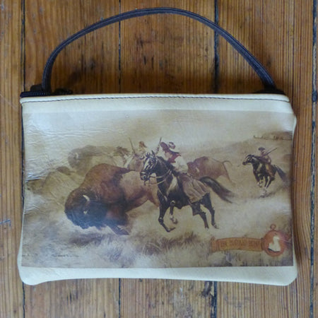Brown RRW Bronc Leather Purse
