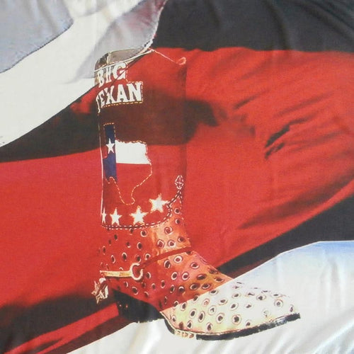 Lone Star State Flag with Big Texan Cowboy Boots Silk Scarf