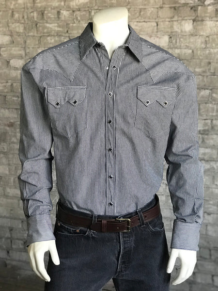 Men's Slim Fit Blue Linen Short Sleeve Shirt