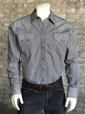 Men's Slim Fit Railroad Stripe Western Shirt - Rockmount