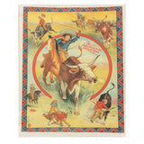 Calf Roping Rodeo Cowgirl Western Tea Towel
