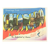 Greetings from Colorful Colorado Western Tea Towel