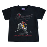 Kid's Black 100% Cotton Bronc Western T-Shirt