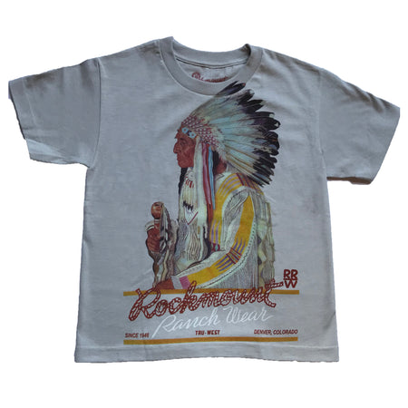 Kid's Embroidered Vintage Fringe Red Western Shirt