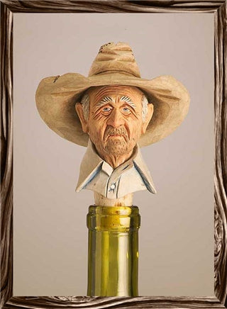 Gramps Cowboy Bottle Stopper - Rockmount