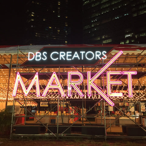 DBS Creators Market, one night before public opening