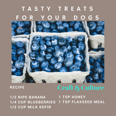 Blueberries and Kefir Recipe for dogs