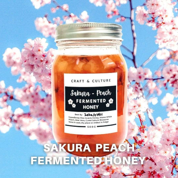 [Limited Edition] Sakura Peach Fermented Honey - Craft & Culture - Kombucha, Kefir & Probiotics Singapore