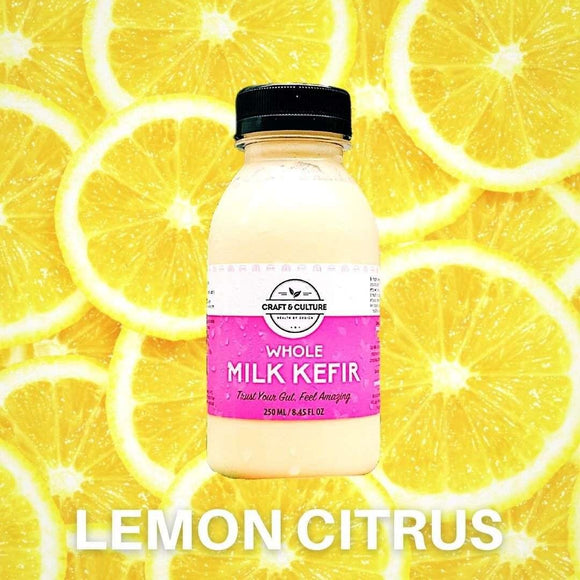 Lemon Whole Milk Kefir - Craft & Culture - Kombucha, Kefir & Probiotics Singapore