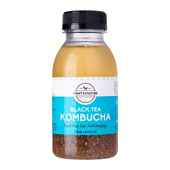 Ginger-Chia Black Tea Kombucha - Craft & Culture - Kombucha, Kefir & Probiotics Singapore