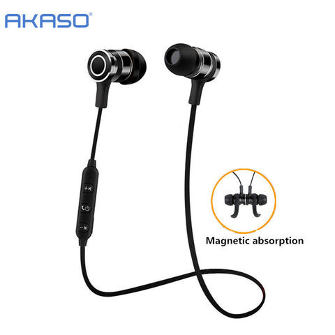 Original V4.2 Sport Wireless Bluetooth Headphone With Microphone & Magnet For Sports