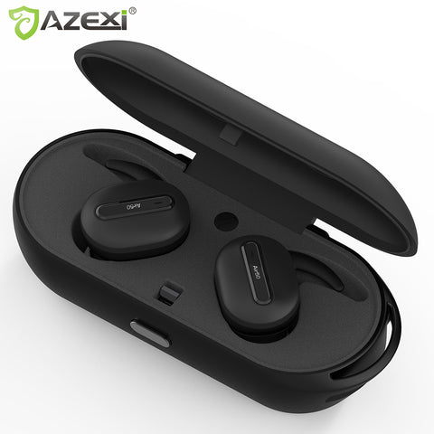Wireless Bluetooth earphones Stereo Binaural Sports Earbuds Built-in Microphone with Chargeable Mini Box