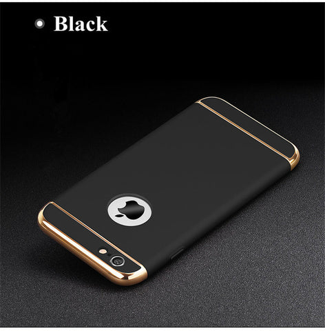 for iPhone 6s case Luxury Black Matte Hard 360 Protection Case For iphone 6 S 7 8 Plus Removable 3 in 1 Back Cover for iphone6 X