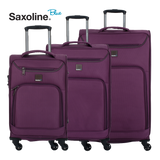 Ultra light weight stylish Saxoline Blue soft trolley set