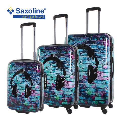 hardluggage set Saxoline with head phone print | HK
