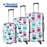 Hard luggage with Owls print | luggageandbagsstore.com