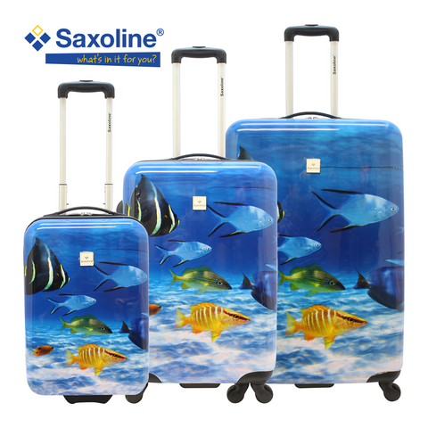 Saxoline hard luggage with 4 wheels/luggageandbagsstore