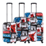 luggage with eifel tower print Saxoline | luggageandbagsstore Hk