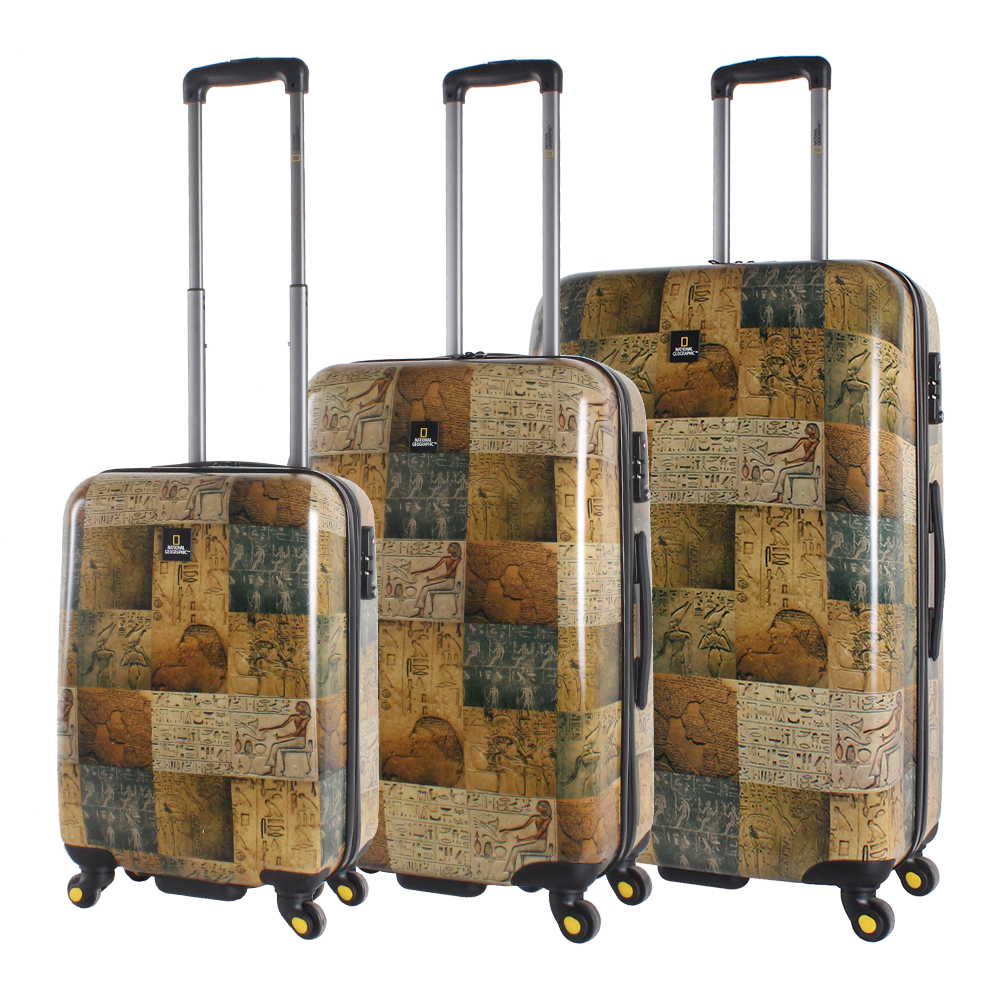 National Geographic Egypt 3 piece trolley case set