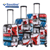 Printed hard luggage Saxoline | luggageandbagsstore.com
