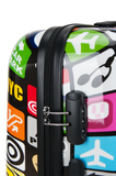 colourful printed luggage of Saxoline | luggage and bag store Hk