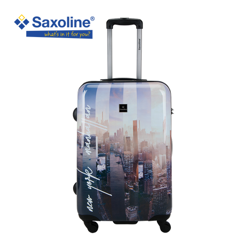 Medium size hard trolley Saxoline printed | luggageandbagstore