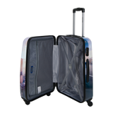 suitcases, trolleys, hard cases with print and 4 wheels Saxoline