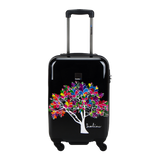 Hard hand luggage Saxoline blue with Magic tree print