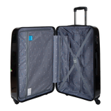 Saxoline Blue hard trolley case with Magic tree print