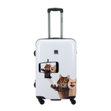 Hard case Saxoline Blue medium with Selfie print | Hk