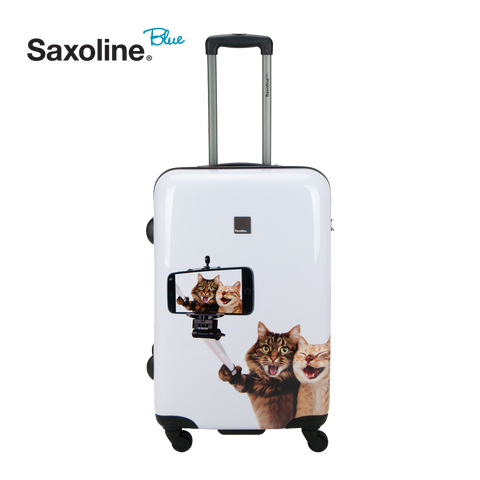 safe hard luggage of Saxoline Blue | luggageandbasstore.com