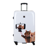 Saxoline Blue Luggage with Selfie Print large