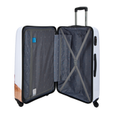 Saxoline blue polycarbonate luggage | luggageandbagsstore