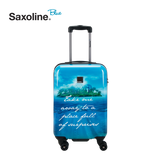 Colourful printed handluggage from Saxoline blue