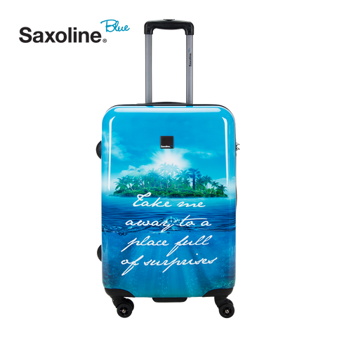 Hard case Saxoline blue exclusive in HK | luggageandbagsstore