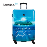 Printed hardshell suitcase of Saxoline Blue | luggageandbagsstore