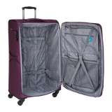 light stylish and strong soft luggage with 4 wheels | Hk